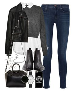 """Outfit for an interview in winter"" by ferned on Polyvore featuring J Brand, French Connection, Zara, Acne Studios, Topshop, Olivia Burton, Givenchy, MICHAEL Michael Kors, Monica Vinader and Casetify"