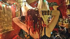 Ginger dreads with beads