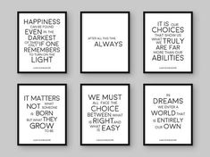 Harry Potter Prints. Albus Dumbledore Quote: Happiness can be found even in the darkest of times if one only remembers to turn on the light: ♥ https://www.etsy.com/listing/531589589/50-off-sale-harry-potter-print-happiness?ref=shop_home_active_14 In dreams we enter a world that is