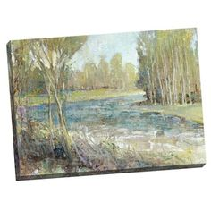 Shop for Portfolio Canvas Decor 'Gentle Banks' Large Printed Canvas Wall Art. Get free delivery at Overstock.com - Your Online Art Gallery Store! Get 5% in rewards with Club O!