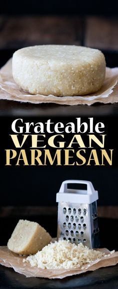 Grateable Vegan Parmesan Cheese | www.veggiesdontbite.com | #vegan #wholefoods #plantbased via @veggiesdontbite