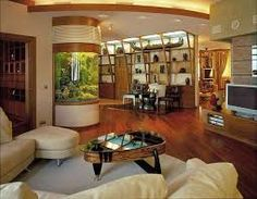 Image result for furniture turned into fish tanks