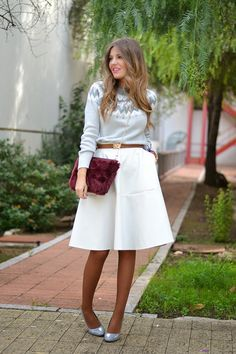 25 Ways to Wear Midi Skirts | StyleCaster
