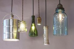 What a nice combo of luminaries made from upcycled materials #G2Bottle Cutter #bottleart #upcycle