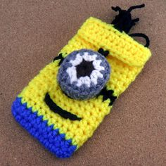 Crochet despicable me 2 inspired minion cell by CrochetbyBetchay
