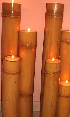 Natural bamboo candles - beautiful!