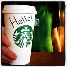 Starbucks offers free latte for everyone who introduces themselves to the barista before 12 today.  But there seems to have been a few instances of spelling names wrong...