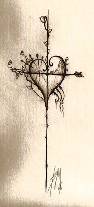 Croix de tatouage, mais pas de cœur, la rose des vents. 6413
