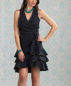Take a look at this Blue Rugar Denim Wrap Dress on zulily today!
