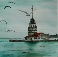 Kız Kulesi ISTANBUL Ballet Art, Pictures To Paint, Art Lessons, Istanbul, Wallpaper, Photography, Painting, Check, Pictures