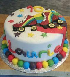 Roller  skating cake. 14th Birthday, Summer Birthday, 6th Birthday Parties, Birthday Fun, Roller Skating Party, Skate Party, Bday Girl, Birthday Cake Girls, Birthday Cakes