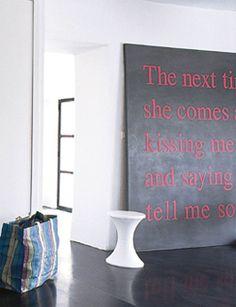 Maak een eigen kunstwerk met een mooie, sprekende tekst.