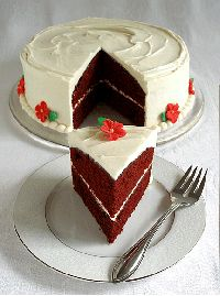 Red Velvet Layer Cake with Traditional Cream Cheese Frosting Recipe