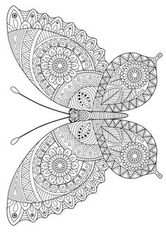 Take a break and have some fun with this collection of free, printable coloring pages for adults. Detailed Coloring Pages, Adult Coloring Book Pages, Printable Adult Coloring Pages, Free Coloring Pages, Coloring Books, Coloring Sheets, Butterfly Coloring Page, Flower Coloring Pages, Mandala Coloring Pages