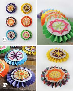 DIY Woven Paper Medallions For Kids by The Crafty Swedes