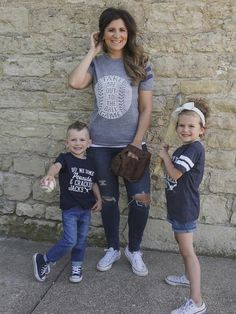 Women's + Kids Graphic Baseball T-shirts
