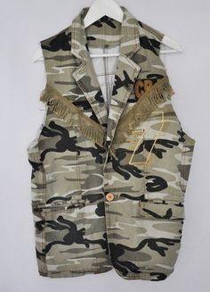 Kup mój przedmiot na #vintedpl http://www.vinted.pl/damska-odziez/kamizelki/15210889-kamizelka-dluga-moro-khaki-fredzle-military-militarna-khaki-oversize-l-xl