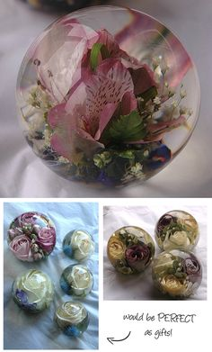 Great present for mothers - and a fantastic way to use the flowers from your bouquet!