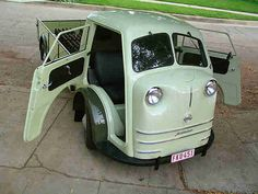This is a very rare VW powered truck called a Tempo Matador, built in 1951 by a Hamburg, Germany based company by the name of Vidal and Sohn.
