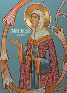 The life of my patron saint, St. Juliana of Lazarevo. She was a Russian homemaker in the 16th century.