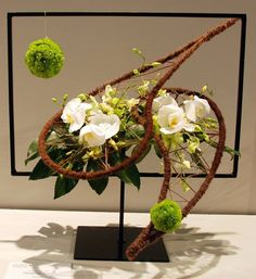 """Wafa Ireland """"A floral Odyssey"""" ~uploaded by Jodi floral design in a frame Contemporary Flower Arrangements, Unique Flower Arrangements, Unique Flowers, Beautiful Flowers, Ikebana, Modern Floral Design, Flora Design, Deco Floral, Arte Floral"""