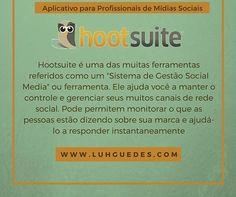 |Dica da Luh | Aplicativo | Quem por aqui usa o Hootsuite? Ferramenta completa de gerenciamento de midias sociais que tem inclusive relatório.  #midiasociais #socialmedia #marketing