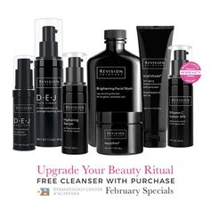 Is it time to revamp your skincare regimen? 🤔 Upgrade your daily beauty ritual with our special on Revision Skincare -- a product line loved by celebs, derms, and our patients alike! 😍 February Special: Receive a FREE Brightening Facial Wash when you purchase 3 Revision Skincare products. 📞 Call (337) 235-6886 or stop by the DCA office to purchase!