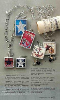#papercraft #Patriotic jewelry