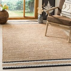 Shop Safavieh Handmade Natural Fiber Hijiri Boho Jute Rug - Overstock - 22713158 - x - Black Natural Fiber Rugs, Natural Area Rugs, Natural Rug, Sisal, Braided Area Rugs, Frida Art, Jute Rug, Burlap Rug, Woven Rug