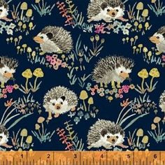 Enchanted Forest by Betsy Olmsted for Windham Fabrics - Fat Quarter of Happy Hedgehogs in Navy Happy Hedgehog, Woodland Fabric, Windham Fabrics, Textiles, Craft Bags, Fabric Beads, Woodland Creatures, Modern Fabric, Cotton Quilts