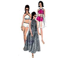 FAB 60s Tent Dress and Swimsuit Pattern by allthepreciousthings