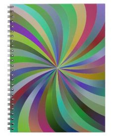 Colorful swirls spiral notebook $14.35