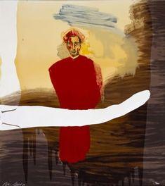 Julian Schnabel / found on www.kunzt.gallery / Victor Hugo Demo, 1998 / screenprint