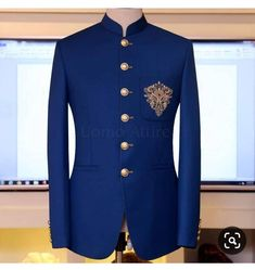 mens wedding suits grey and blue Wedding Dresses Men Indian, Wedding Dress Men, Wedding Jacket, Wedding Men, Wedding Suits, Luxury Wedding, Indian Men Fashion, Mens Fashion Suits, Mens Suits
