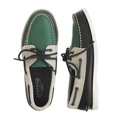Kids' Sperry Top-Sider® for crewcuts Authentic Original leather and suede boat shoes. J.Crew. $75. #luckofnatickmall