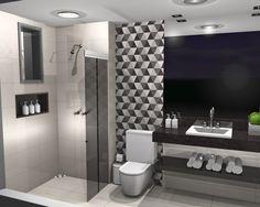 Seja para dar destaque a uma parede da sala, seja para revestir o piso do banheiro, os pisos geométricos assumiram novas cores e formas e adaptaram-se aos diferentes cômodos da casa e reafirmando a sua versatilidade. Confiram 11 banheiros decorados com pisos geométricos!
