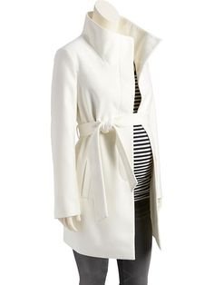 I am dying Ver this coat. Says its maternity, but I'm thinking it works...Maternity Funnel-Neck Coat