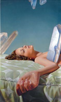 Diego Gravinese - Alena de los Cristales ~ Alena of the Crystals - oil on canvas