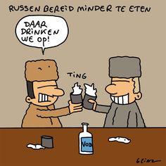 Russen bereid minder te eten