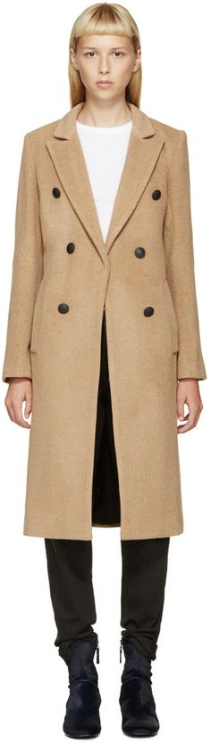 I'll take it!!!  Rag & Bone Beige Faye Camel Coat