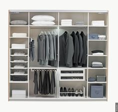 A chacun son dressing ! - page 2 - Dressing, rangements, chambre, décoration, aménagement Dressing Design, Closet Organisation, Laundry Shelves, Dressing Room Closet, Box Shelves, Home Upgrades, Wardrobe Design, Closet Designs, Walk In Closet