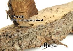 Pecan wood produces a sweet, flavorful smoke. Since the smoke is so sweet, it is good mixed with oak or mesquite. Type of foods that go well with pecan wood: Poultry – whole birds Pork –… Smoking Wood, Smoking Meat, Bbq Wood, Pecan Wood, Pecan Nuts, Outdoor Stuff, Stoves, Grills, Rustic Design