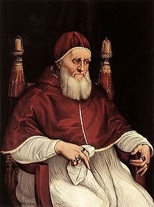Julius II (Giuliano della Rovere, Rome, Pontificate 1503-13) Julius II protected the Papal States by applying an aggressive foreign policy, to be independent of emperors and kings. He hated the French; led papal armies when Italy was invaded by French and Imperial armies. He commissioned Raphael to paint the papal apartments, and Michelangelo to paint the ceiling of the Sistine Chapel. He was 60 years old when elected, and possessed energy, strength, and the decisiveness of a man half his…