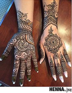 Explore latest Mehndi Designs images in 2019 on Happy Shappy. Mehendi design is also known as the heena design or henna patterns worldwide. We are here with the best mehndi designs images from worldwide. Wedding Mehndi Designs, Mehndi Designs For Fingers, Best Mehndi Designs, Henna Tattoo Designs, Best Arabic Mehndi Designs, Henna Tatoos, Hand Tattoos, Mehandi Henna, Paisley Tattoos
