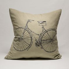 """Pillow """"Bicycle"""" https://www.facebook.com/miss.machine.hand.made?ref=hl"""