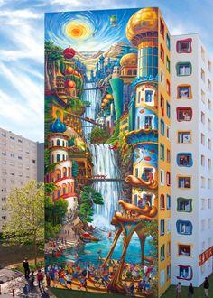 Fresque des Noirettes in Vaulx-en-Velin France paint on wall 2011 | Visit http://www.omnipopmag.com/main For More!!! #Omnipop #Omnipopmag