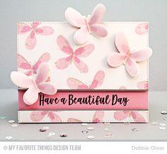 Handmade card from Debbie Olson featuring Beautiful Butterflies Card Kit #mftstamps