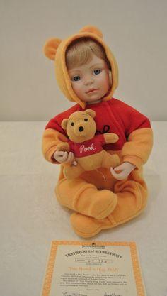 Ashton Drake Galleries  You Need a Hug, Pooh  Porcelain Doll