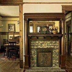 bungalow fireplace in Atlanta