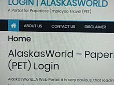 alaska paperless employee travel